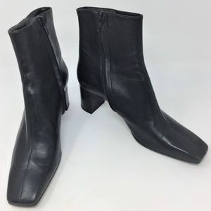 Robert Clergerie Heeled Boots Black Leather 7.5B